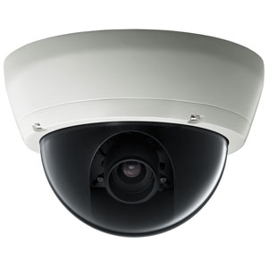 a ceiling-mounted surveillance camera